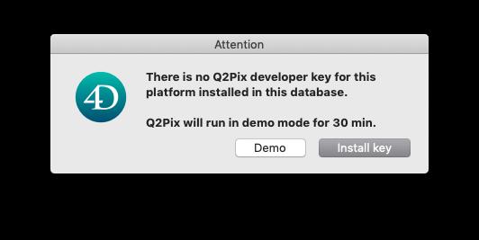 Adding & Removing License Keys — Q2Pix v 1 0b5 Manual